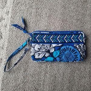 Vera Bradley Blue Bayou Wristlet